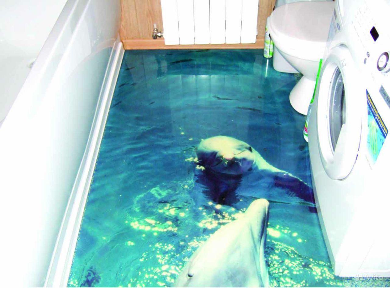 Как сделать наливной пол 3d в ванной