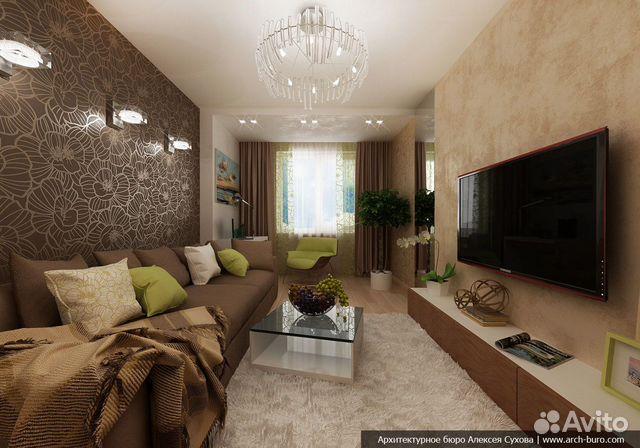 Дизайн зала 19 кв м