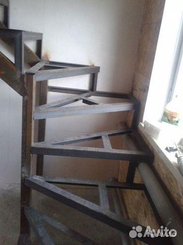 Как сделать лестницу если есть металлический каркас 99