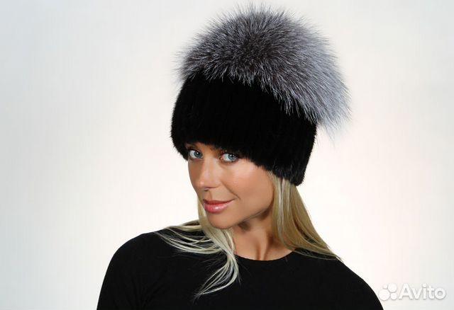 Женские норковые вязаные шапки женские