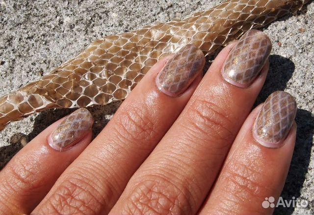Ногти змеиная кожа