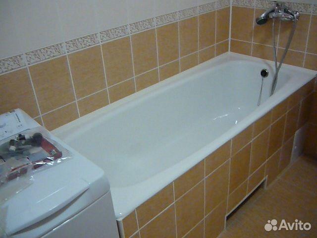 Плитка над ванной своими руками