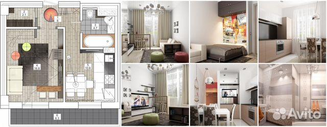 Дизайн перепланировок однокомнатных квартир с
