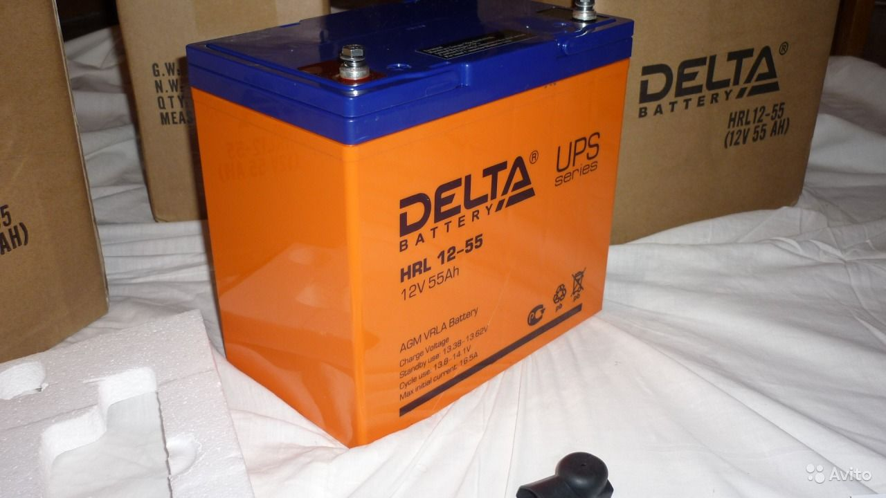 Аккумулятор DELTA HRL 12-55, 55Ач 12В - Солнечная
