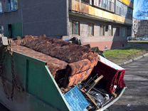 Вывоз мусора бункером, газелью