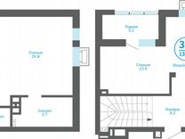 3-к квартира, 133.7 м², 22/23 эт. — Квартиры в Тюмени