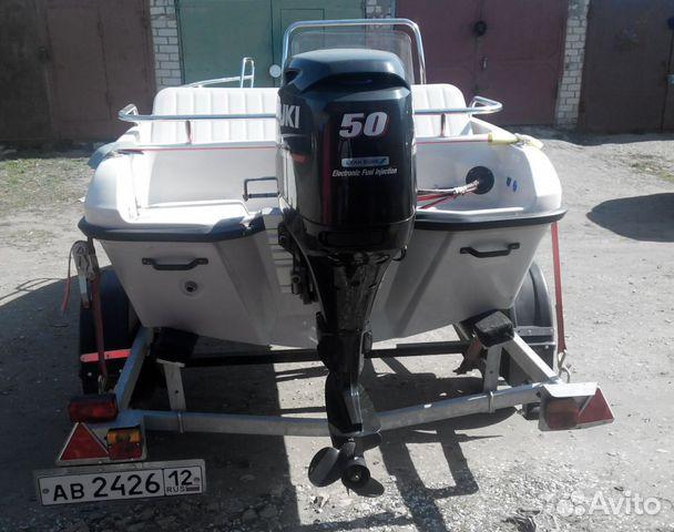 Лодка terhi + мотор suzuki DF50A + прицеп + гараж купить 2