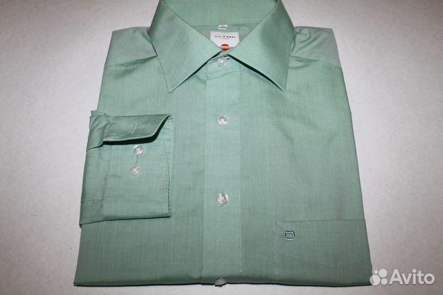 b5f4e8dc1121057 Мужская рубашка Olymp мятного цвета 40 ворот купить в Санкт ...