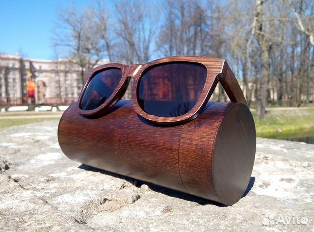 56c57474347e Бамбуковые (деревянные) солнцезащитные очки купить в Санкт ...
