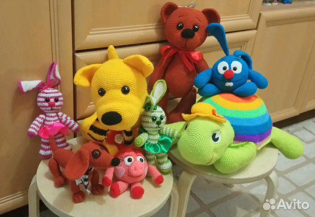 8aec9e36cf7 Вязаные игрушки в наличии больших размеров купить в Кабардино ...