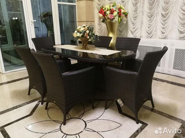 Плетеный стол с креслами из искусственного ротанга 89189817122 купить 2
