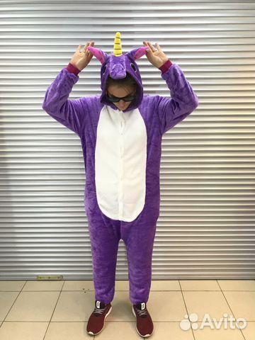 Кигуруми единорог фиолетовый М купить в Пермском крае на Avito ... 6b5fa27b63d08