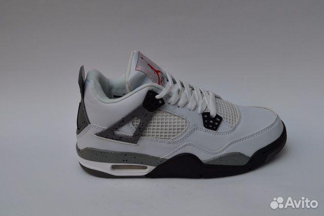 cb7a00df Кроссовки Nike Air Jordan 4 Белые серые мужские Дж   Festima.Ru ...