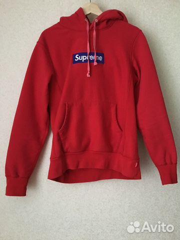1a02fde60909 Худи Supreme box logo red