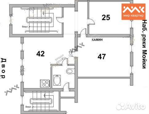 2-к квартира, 136 м², 4/4 эт. — Квартиры в Санкт-Петербурге