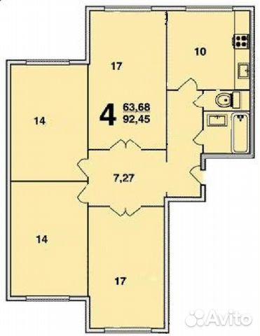 Продается четырехкомнатная квартира за 12 000 000 рублей. Москва, Южнобутовская улица, 123.