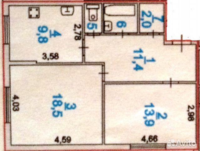 Продается двухкомнатная квартира за 4 600 000 рублей. Ленинградская обл, Всеволожский р-н, г Сертолово, мкр Сертолово-1, ул Молодежная, д 3 к 2.