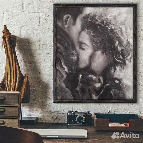 4a2e592edb25d Встреча, 50х60см, картина маслом на холсте, любовь купить в Санкт ...