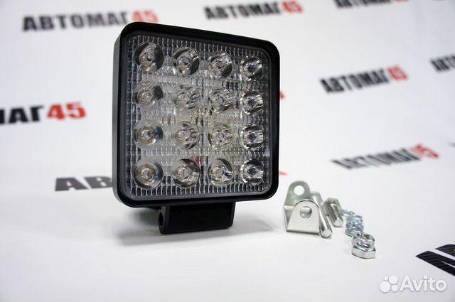 Светодиодная фара тонкая 48вт дальний свет 1шт 89091779933 купить 4