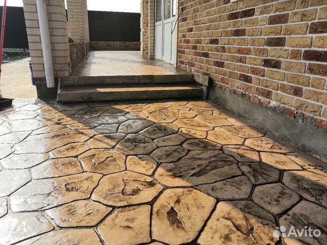 Печатный бетон фото фундамент бетон ленточный