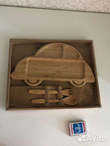 Тарелка детская из бамбука