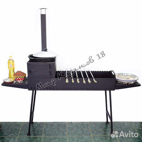 Мангал 100х30см разборный, сталь 4 мм 89511907273 купить 1