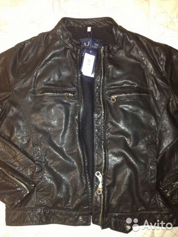 cc27ae076532 Armani Jeans Кожаная куртка   Festima.Ru - Мониторинг объявлений