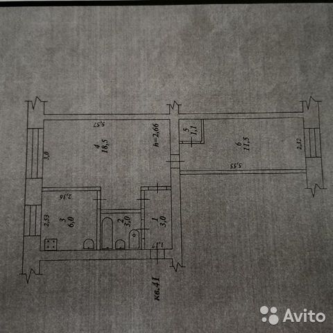 2-к квартира, 43 м², 4/5 эт.  89842906228 купить 9