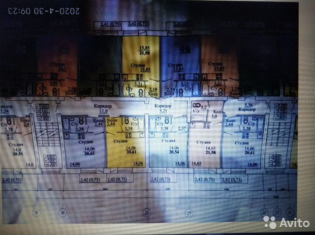 Студия, 20 м², 2/5 эт.  89095964427 купить 6