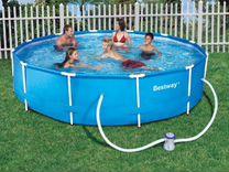 Большой круглый бассейн (каркасный) на 6,5 литра