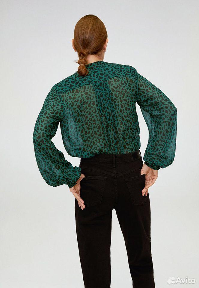 Новая блуза зеленая -принт лео mango  89170473472 купить 3