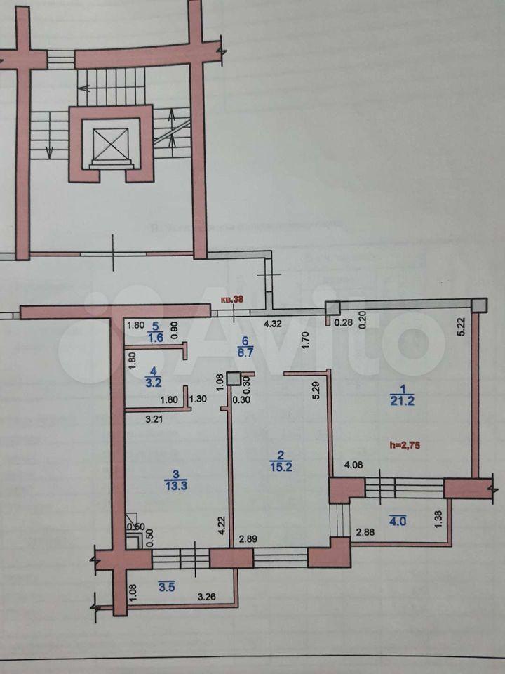 2-к квартира, 63.2 м², 5/7 эт.  89615464960 купить 7