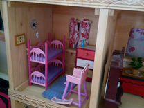 Домик деревянный кукольный