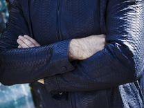 Куртка мужская из натуральной кожи питона С.45