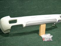 Зад.губа Modellista Prado 150 с 09г. 2 трубы, бел