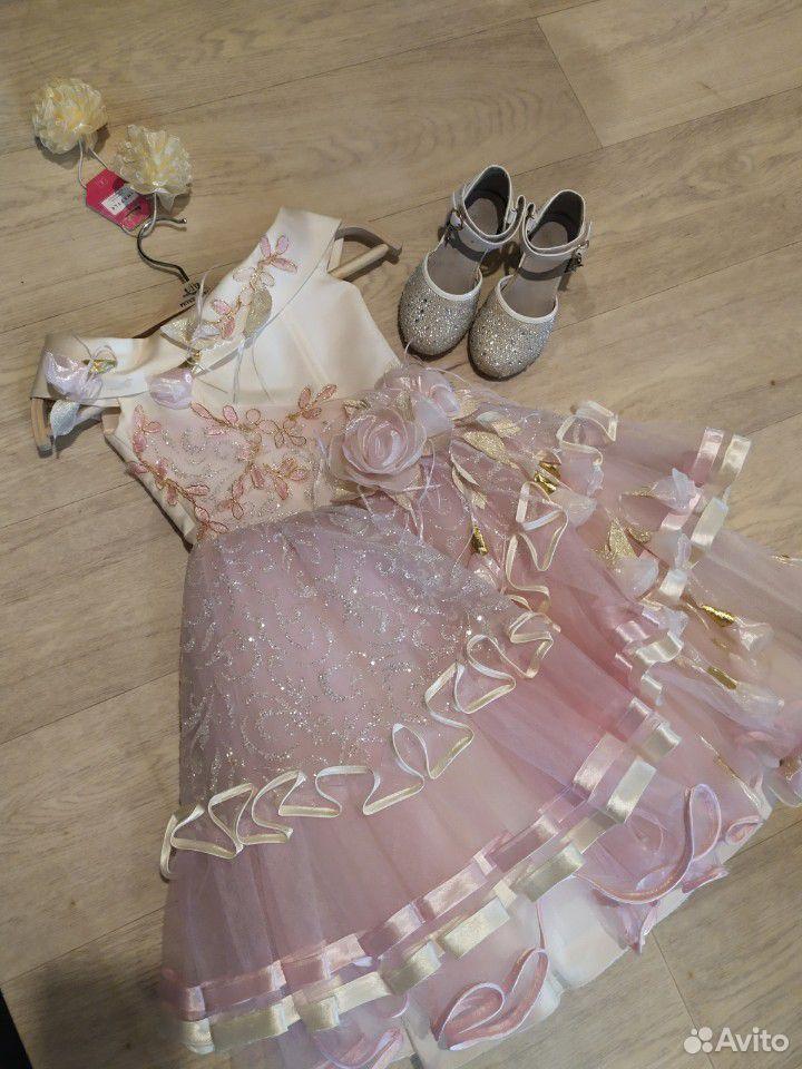 Красивейшее нарядное платье для принцессы+туфли  89854569556 купить 1