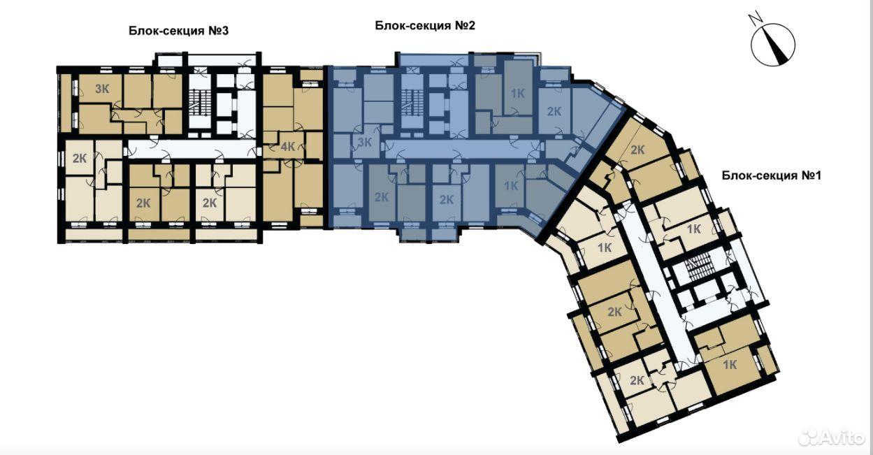 2-к квартира, 39.9 м², 10/16 эт.  89236431246 купить 10