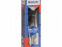 Микрофон караоке Defender MIC 130 чёрный новый