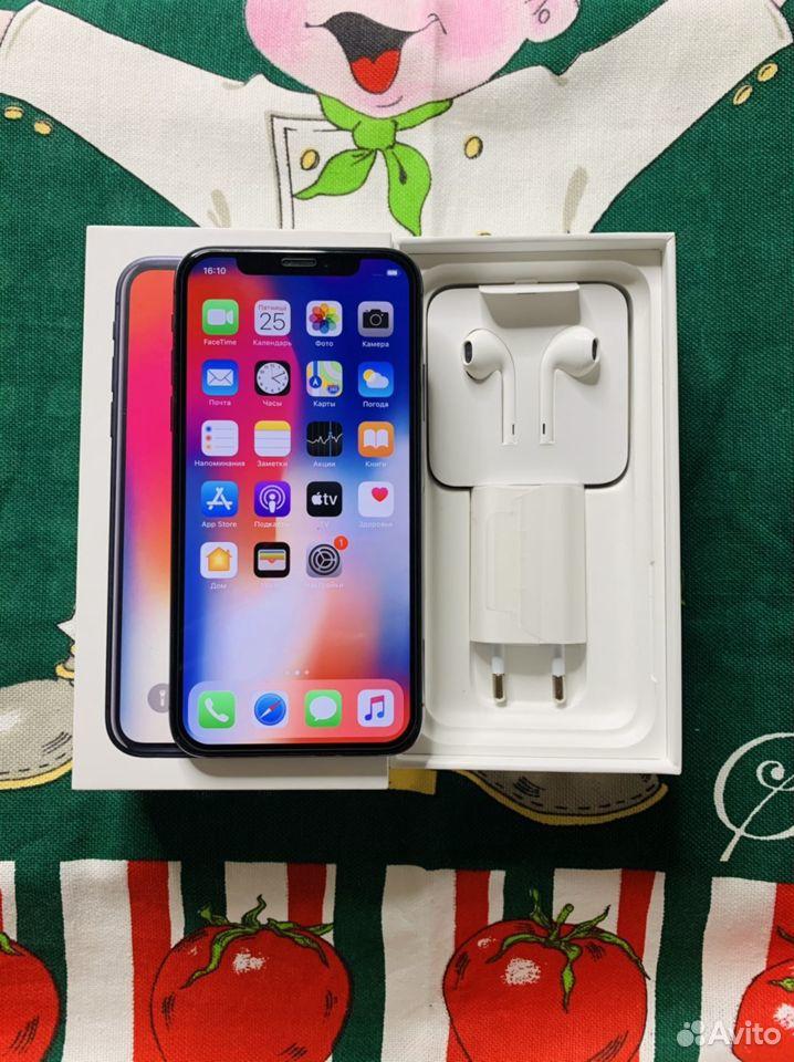 iPhone X 256 gb (Гарантия, чек)  89659840689 купить 1