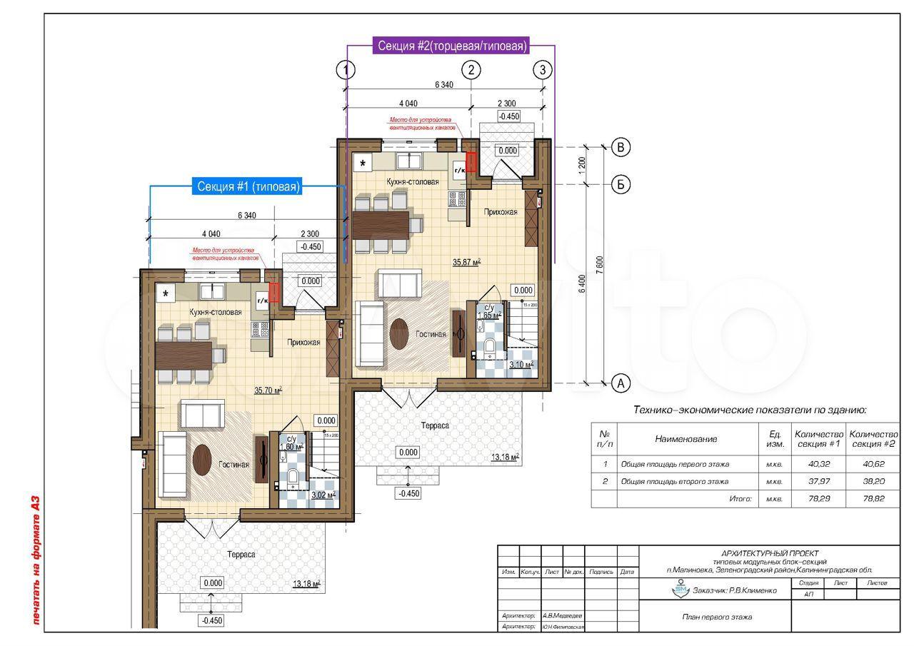 Таунхаус 82 м² на участке 1.5 сот.  89814708100 купить 4