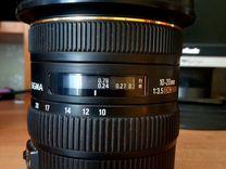 Sigma 10-20 mm f3.5 на кенон